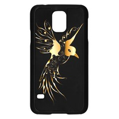Beautiful Bird In Gold And Black Samsung Galaxy S5 Case (black)
