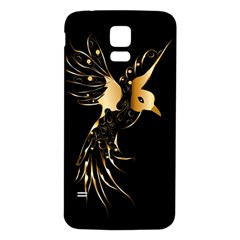 Beautiful Bird In Gold And Black Samsung Galaxy S5 Back Case (white)
