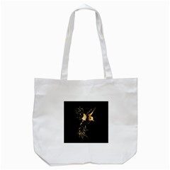 Beautiful Bird In Gold And Black Tote Bag (white)