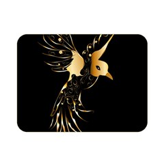 Beautiful Bird In Gold And Black Double Sided Flano Blanket (mini)