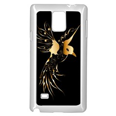 Beautiful Bird In Gold And Black Samsung Galaxy Note 4 Case (white)
