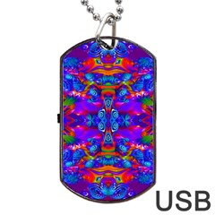 Abstract 4 Dog Tag Usb Flash (one Side) by icarusismartdesigns