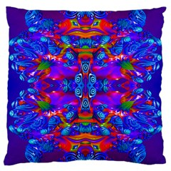 Abstract 4 Large Cushion Cases (one Side)  by icarusismartdesigns