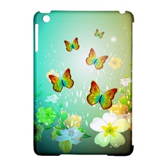 Flowers With Wonderful Butterflies Apple Ipad Mini Hardshell Case (compatible With Smart Cover) by FantasyWorld7