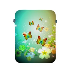 Flowers With Wonderful Butterflies Apple Ipad 2/3/4 Protective Soft Cases by FantasyWorld7