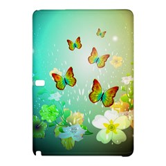 Flowers With Wonderful Butterflies Samsung Galaxy Tab Pro 12 2 Hardshell Case by FantasyWorld7