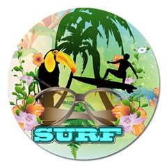 Surfing Magnet 5  (round) by FantasyWorld7