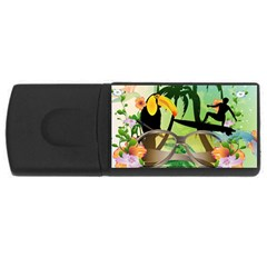 Surfing Usb Flash Drive Rectangular (4 Gb)  by FantasyWorld7