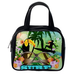Surfing Classic Handbags (one Side) by FantasyWorld7
