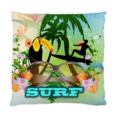 Surfing Standard Cushion Cases (two Sides)  by FantasyWorld7