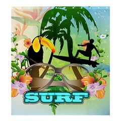 Surfing Shower Curtain 66  X 72  (large)  by FantasyWorld7