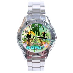 Surfing Stainless Steel Men s Watch by FantasyWorld7