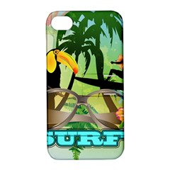Surfing Apple Iphone 4/4s Hardshell Case With Stand by FantasyWorld7