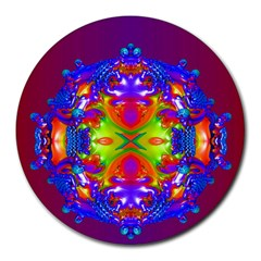 Abstract 6 Round Mousepads