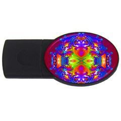 Abstract 6 Usb Flash Drive Oval (4 Gb)  by icarusismartdesigns