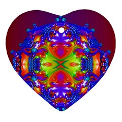 Abstract 6 Heart Ornament (2 Sides) by icarusismartdesigns