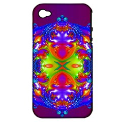 Abstract 6 Apple Iphone 4/4s Hardshell Case (pc+silicone)