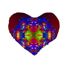 Abstract 6 Standard 16  Premium Flano Heart Shape Cushions