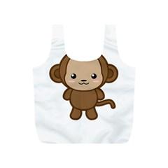 Kawaii Monkey Full Print Recycle Bags (s)  by KawaiiKawaii