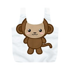 Kawaii Monkey Full Print Recycle Bags (m)  by KawaiiKawaii