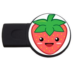 Kawaii Strawberry Usb Flash Drive Round (2 Gb)  by KawaiiKawaii