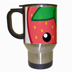 Kawaii Strawberry Travel Mugs (white) by KawaiiKawaii
