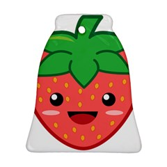 Kawaii Strawberry Bell Ornament (2 Sides) by KawaiiKawaii