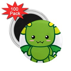 Kawaii Dragon 2 25  Magnets (100 Pack)