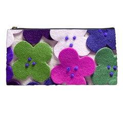 Cotton Flower Buttons  Pencil Cases by OCDesignss