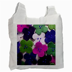 Cotton Flower Buttons  Recycle Bag (one Side)