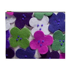 Cotton Flower Buttons  Cosmetic Bag (xl)