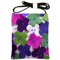 Cotton Flower Buttons  Shoulder Sling Bags