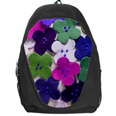 Cotton Flower Buttons  Backpack Bag