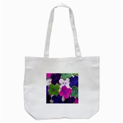 Cotton Flower Buttons  Tote Bag (white)