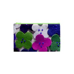 Cotton Flower Buttons  Cosmetic Bag (xs)