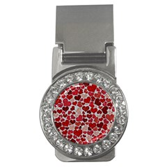 Sparkling Hearts, Red Money Clips (cz)  by MoreColorsinLife