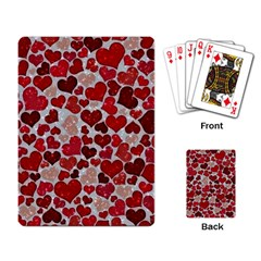 Sparkling Hearts, Red Playing Card by MoreColorsinLife
