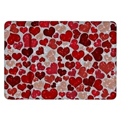 Sparkling Hearts, Red Samsung Galaxy Tab 8 9  P7300 Flip Case by MoreColorsinLife