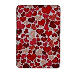 Sparkling Hearts, Red Samsung Galaxy Tab 2 (10 1 ) P5100 Hardshell Case