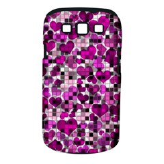 Hearts And Checks, Purple Samsung Galaxy S Iii Classic Hardshell Case (pc+silicone) by MoreColorsinLife