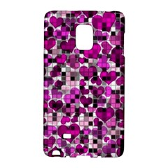 Hearts And Checks, Purple Galaxy Note Edge by MoreColorsinLife