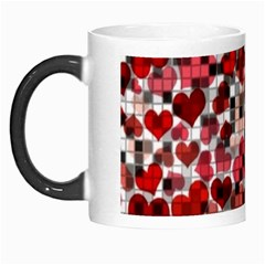 Hearts And Checks, Red Morph Mugs by MoreColorsinLife