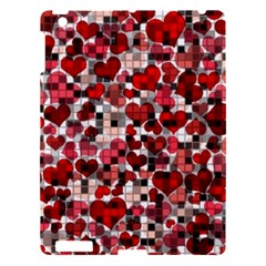 Hearts And Checks, Red Apple Ipad 3/4 Hardshell Case by MoreColorsinLife