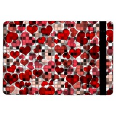 Hearts And Checks, Red Ipad Air 2 Flip