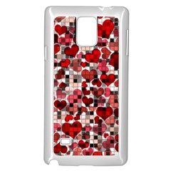 Hearts And Checks, Red Samsung Galaxy Note 4 Case (white) by MoreColorsinLife