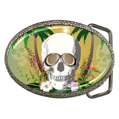 Funny Skull With Sunglasses And Palm Belt Buckles by FantasyWorld7