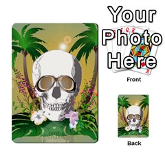 Funny Skull With Sunglasses And Palm Multi Purpose Cards (rectangle)  by FantasyWorld7