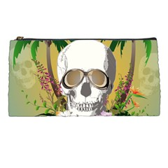 Funny Skull With Sunglasses And Palm Pencil Cases by FantasyWorld7