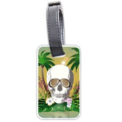 Funny Skull With Sunglasses And Palm Luggage Tags (one Side)