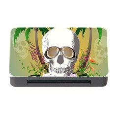 Funny Skull With Sunglasses And Palm Memory Card Reader With Cf by FantasyWorld7